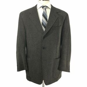 Canali 3 Button Wool Blend Sport Coat Size 44R